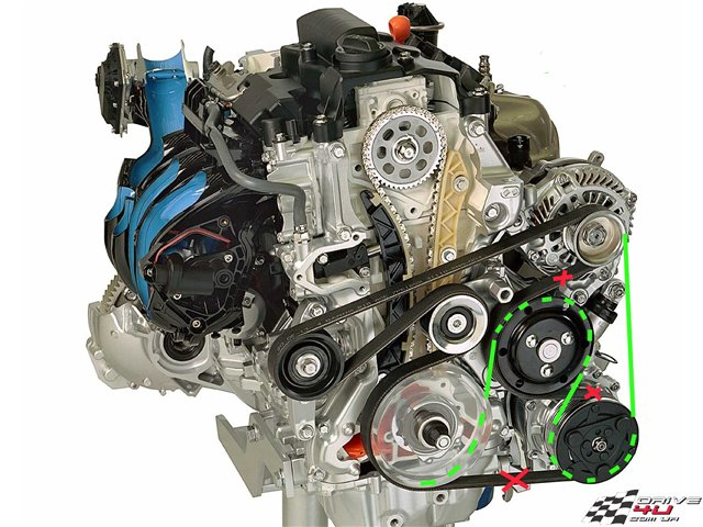 замена приводного ремня Хонда Civic